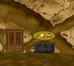 Sprookjesverhalen-slaapkamer-elv opzoek naar kast